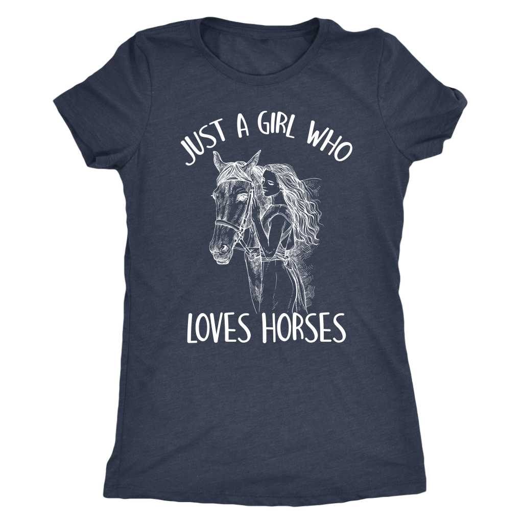 """Just A Girl Who Loves Horses"" Women's Triblend T-Shirt"