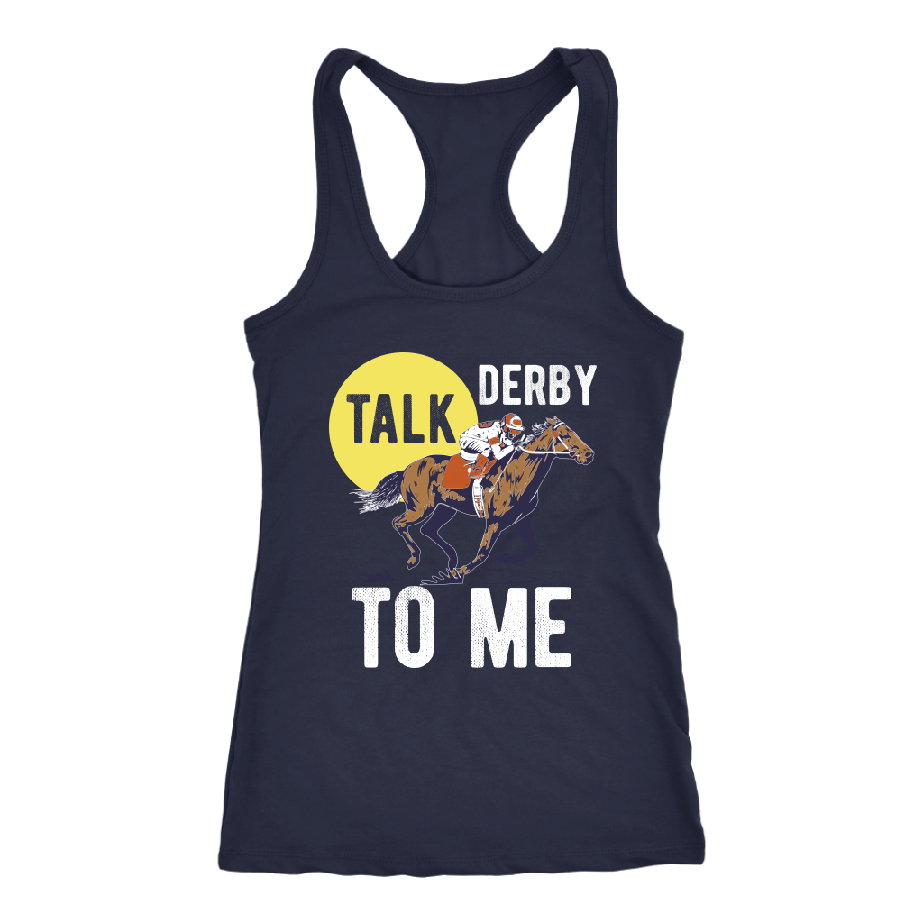 """Talk Derby To Me"" Women's Racerback Tank Top"