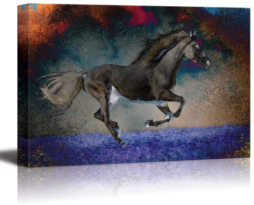 An Exposed Horse Canvas Wall Art