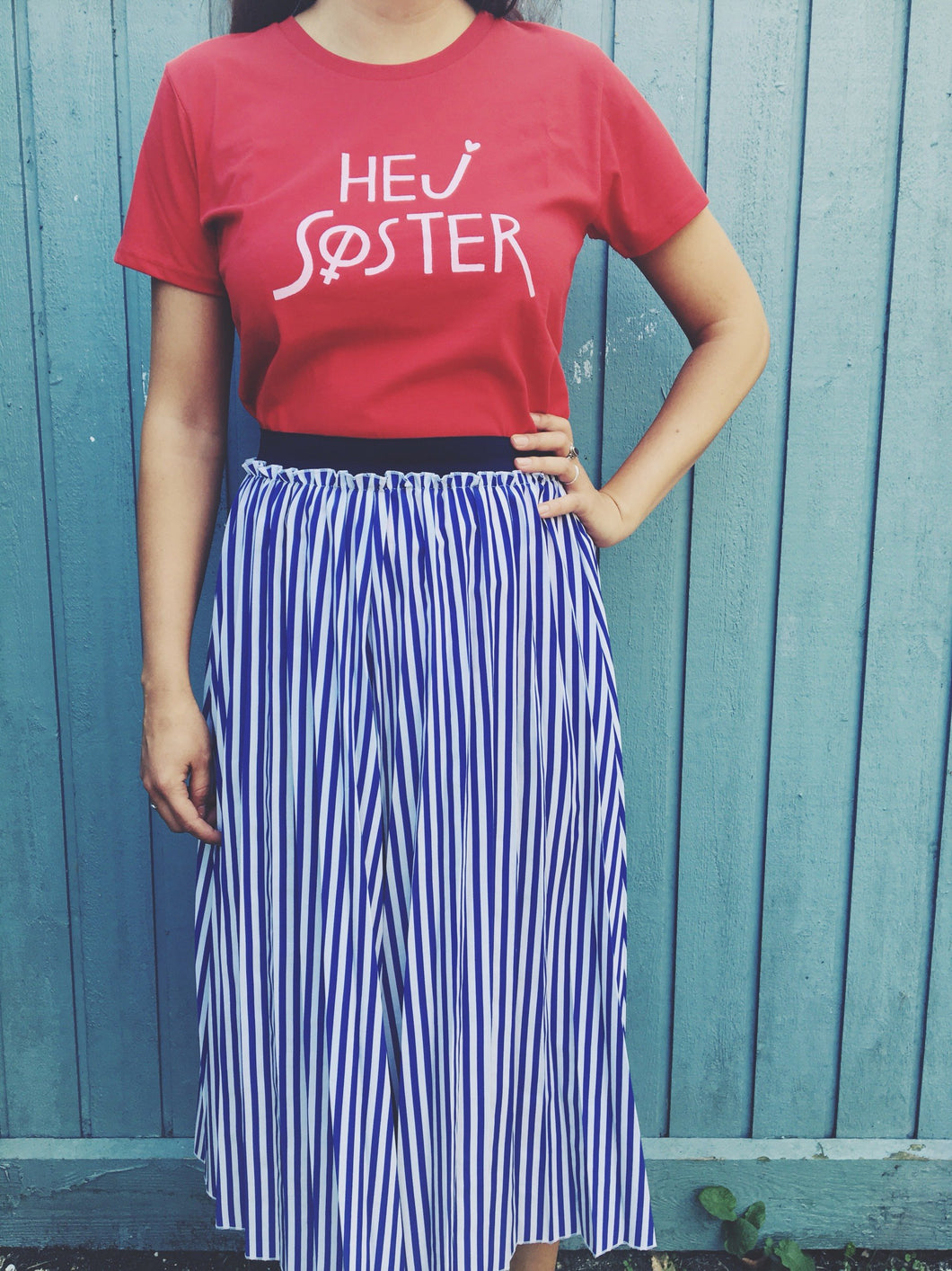 Hej Søster Classic Fit Red/Pink Tee