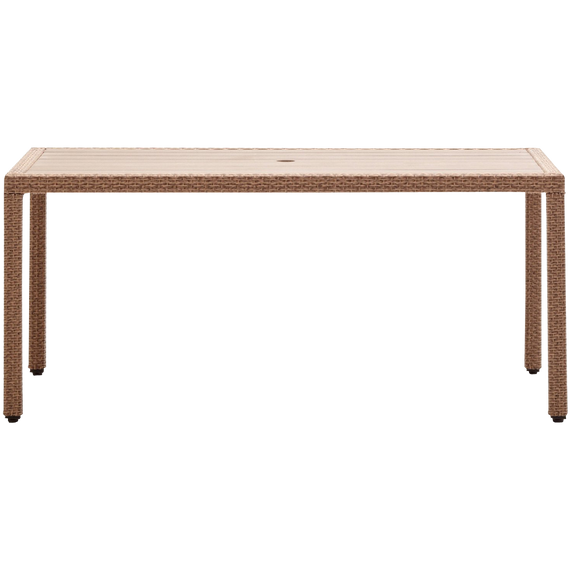 Strathwood Griffen All Weather Wicker And Resin Dining Table