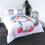 Music Unicorn Quilt Cover Single Set - Unicornia