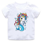 Mermaid Cartoon Unicorn T-Shirt - Unicornia