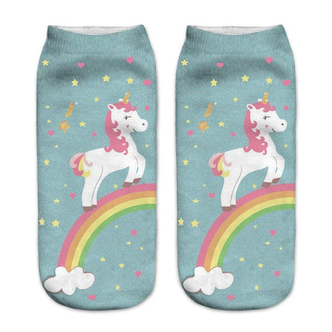 On The Rainbow Unicorn Socks - Unicornia
