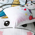 Music Unicorn Quilt Cover King Set - Unicornia
