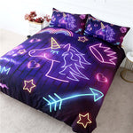 Glow Unicorn Quilt Cover King Set - Unicornia