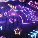 Glow Unicorn Quilt Cover Queen Set - Unicornia