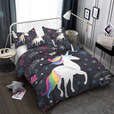 Falling Star Unicorn Quilt Cover Single Set - Unicornia