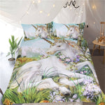 Fantasy Unicorn Quilt Cover Queen Set - Unicornia