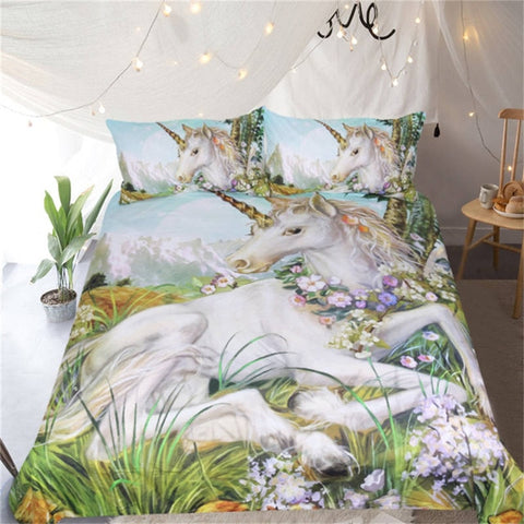 Fantasy Unicorn Quilt Cover King Set - Unicornia