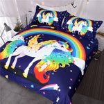 Lulu Rainbow Unicorn Quilt Cover Single Set - Unicornia