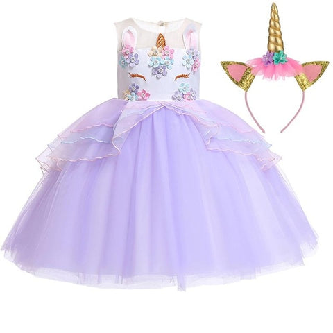 Purple Fleur Dress Unicorn Costume - Unicornia