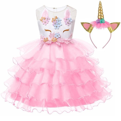 Pink Chloe Gown Unicorn Costume - Unicornia