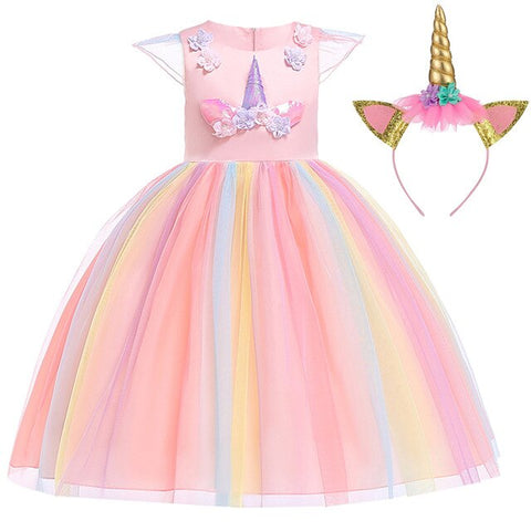 Pink Kira Dress Unicorn Costume - Unicornia