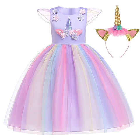 Purple Kira Gown Unicorn Costume - Unicornia