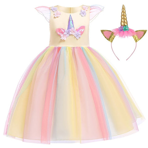 Yellow Gown Unicorn Costume - Unicornia