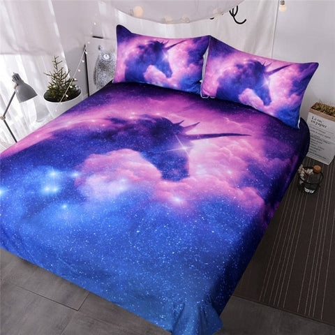 Million Stars Unicorn Quilt Cover Double Set - Unicornia