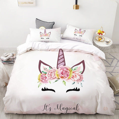 It's Magical Unicorn Quilt Cover Queen Set - Unicornia