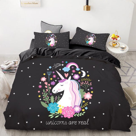 Unicorns Are Real Quilt Cover Double Set - Unicornia