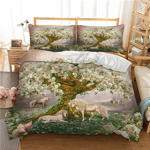 Blossom Tree Unicorn Quilt Cover King Set - Unicornia
