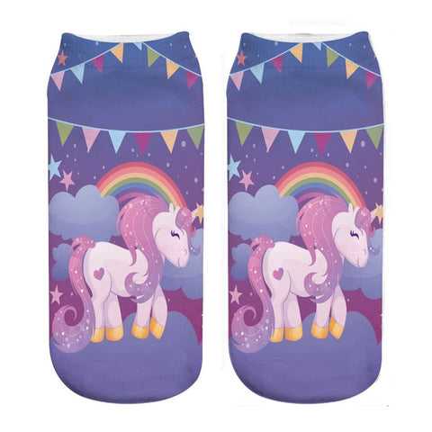 Rainbow Party Unicorn Socks - Unicornia