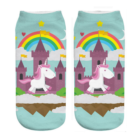 Castle Unicorn Socks - Unicornia
