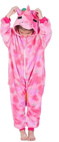 Pink Rainbow Kids Unicorn Onesie - Unicornia