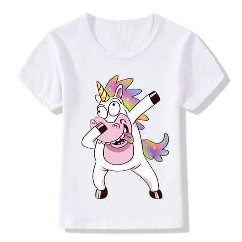 Crazy Dabbing Unicorn T-Shirt - Unicornia