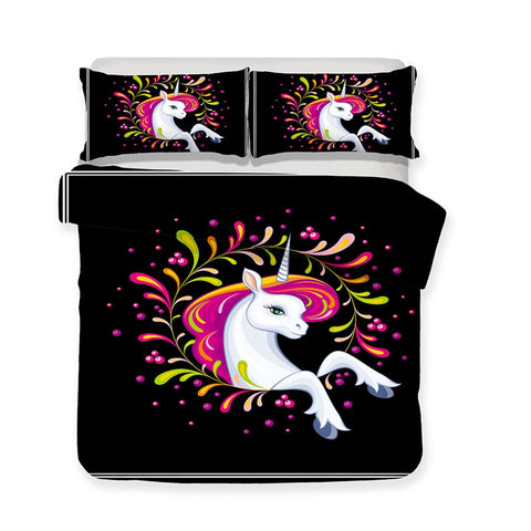 Power Unicorn Quilt Cover Queen Set - Unicornia