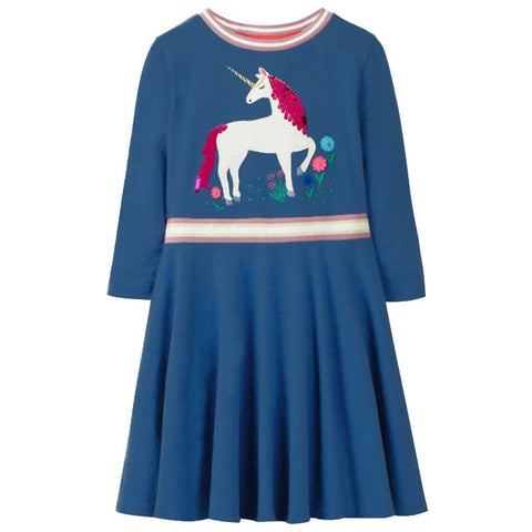 Blue Ruby Unicorn Dress - Unicornia