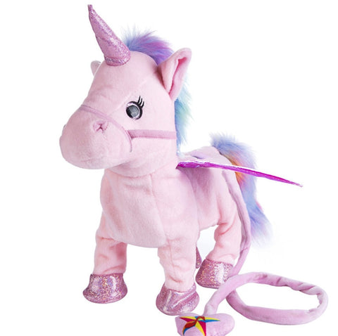 Glitter Pink Electric Walking Unicorn Toy - Unicornia