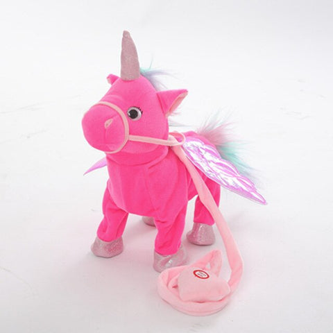 Rose Electric Walking Unicorn Toy - Unicornia