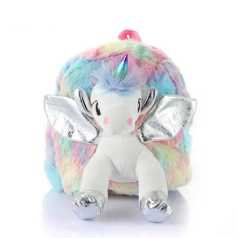 Silver Flying Doll Unicorn Backpack - Unicornia