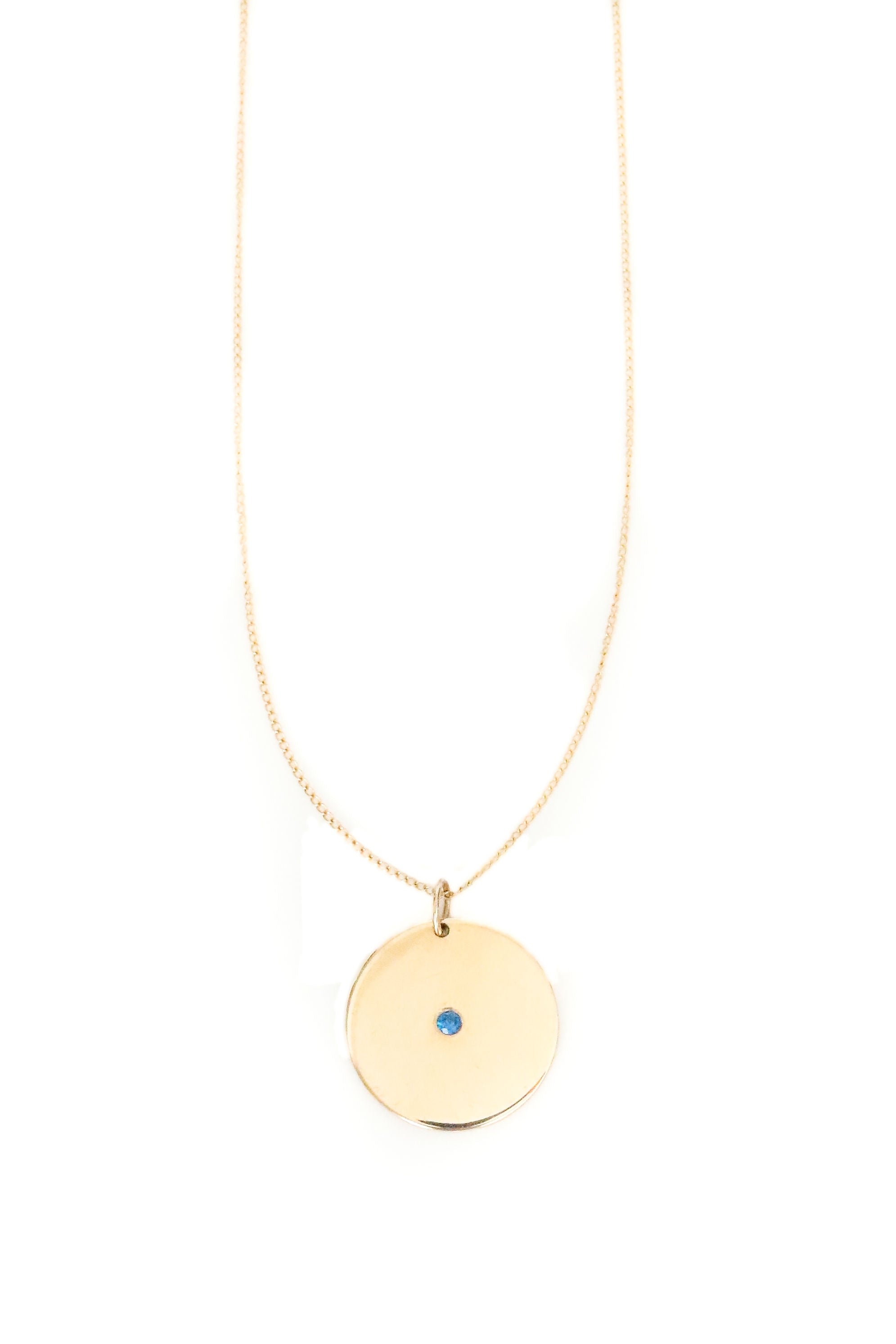Sol Sapphire Disk Necklace