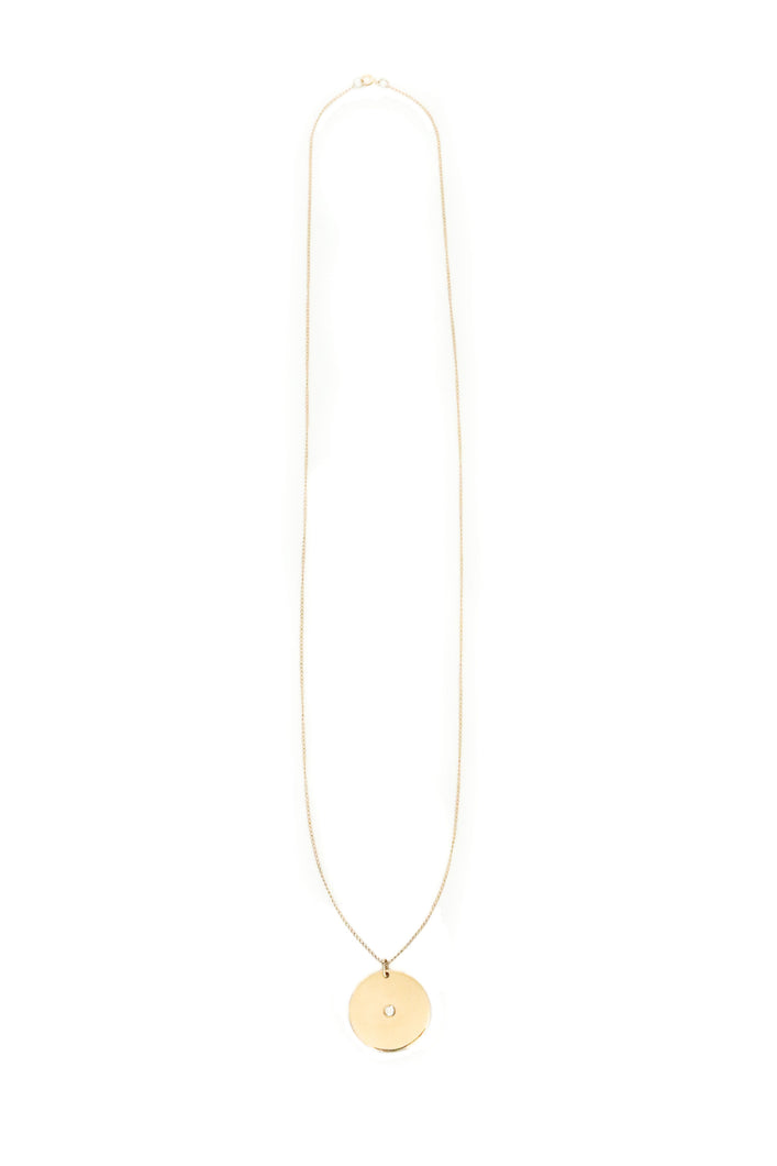 Sol Diamond Disk Necklace