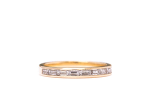 Channel Set Baguette Ring