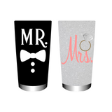 Mr & Mrs cup SVG