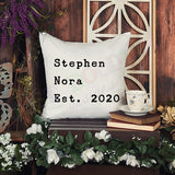 Throw Pillow Cover - Family Established