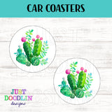 Cactus Car Coaster set