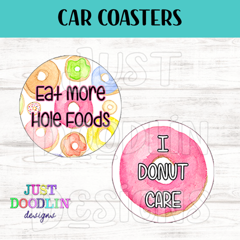 Donut Car Coaster set
