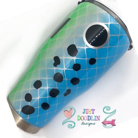 Fishing Lure Tumbler Design 2