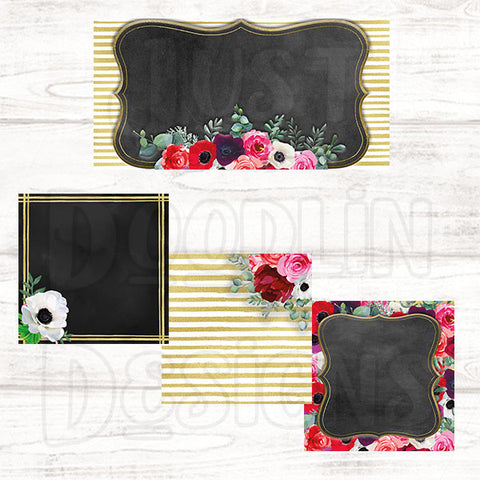 Floral with Black Chalkboard Social Media Graphic Package