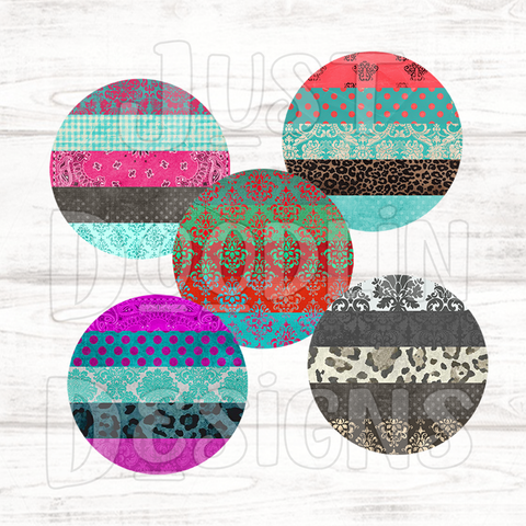 Distressed Circle Backgrounds