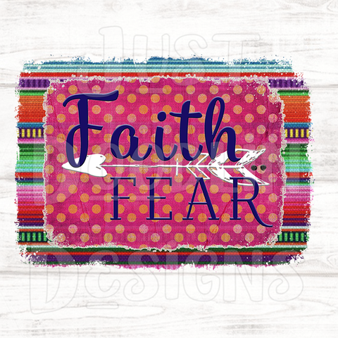 Faith Over Fear PNG file