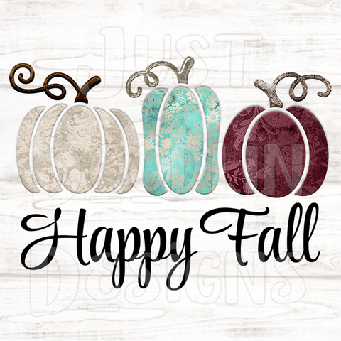 Fall Design | Happy Fall With Baroque Pumpkins