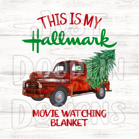 Christmas Design | Hallmark Movie Watching Blanket
