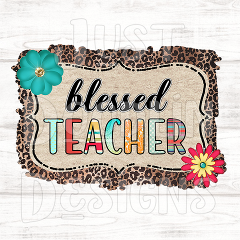 Blessed Teacher PNG file