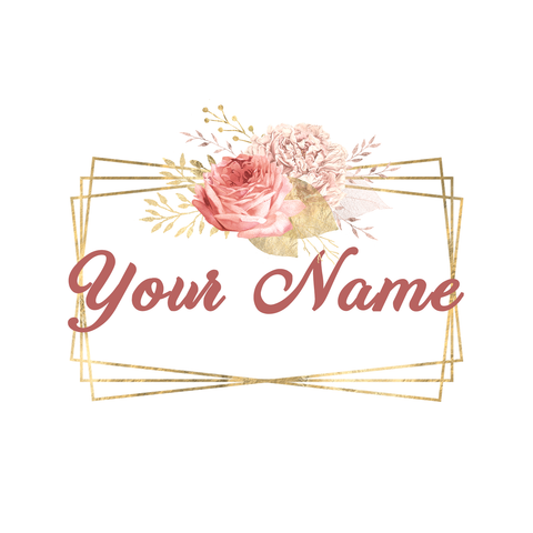 Modern Pink and Gold Floral Logo