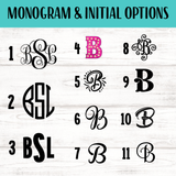 Floral Monogram Car Coaster set