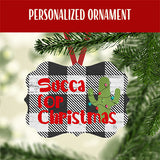 Personalized Cactus Christmas Ornament